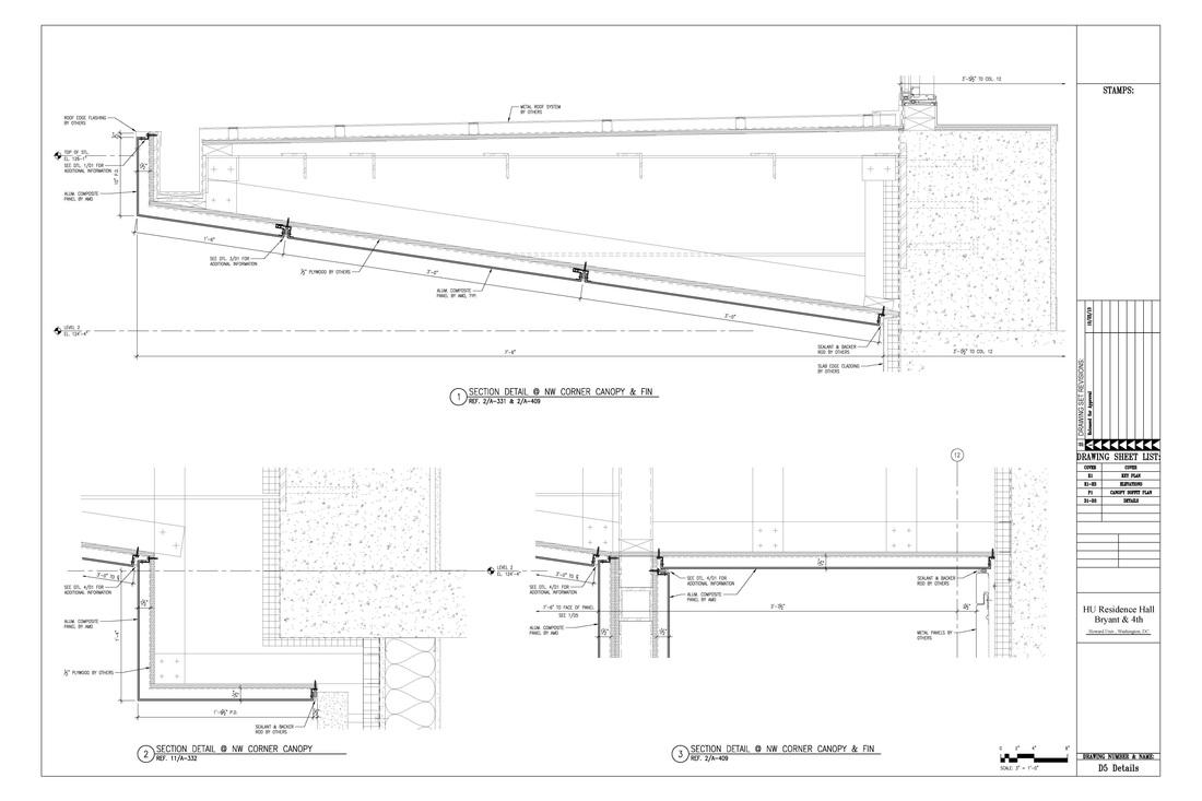 Aluminum Composite Panel Details : Examples accurate drafting detailing llc